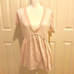 Anthropologie NWT TLA Pale Pink Shirt size XL